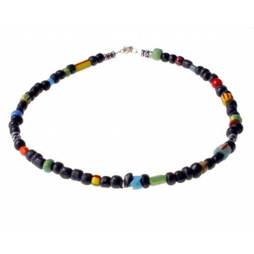 ketting indo-pacific, christmas beads met zilver