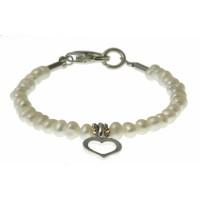 baby-armband parels met zilver