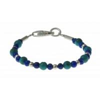 baby-armband lapiz, turquoise en zilver