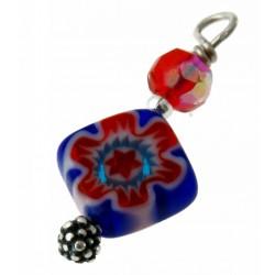 bedel mille-fiori rood-blauw