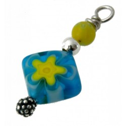 bedel mille-fiori lichtblauw-geel