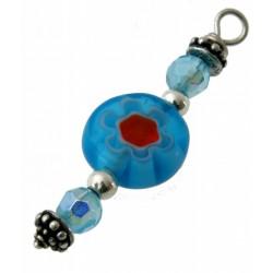 hanger mille-fiori lichtblauw