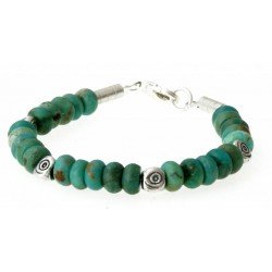 armband turquoise en zilver