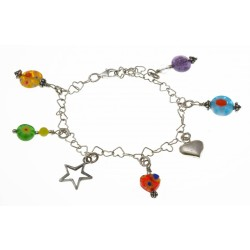 bedelarmband multi-colour
