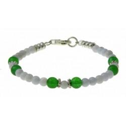 armband kant-agaat, groene onyx en zilver