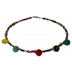 ketting christmas beads, trouwkralen uit Mali en zilver