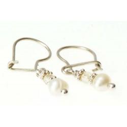 echt zilveren oorbellen met parels