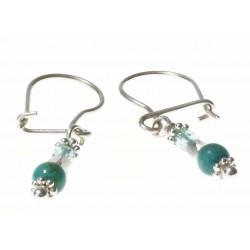 echt zilveren oorbellen met turquoise