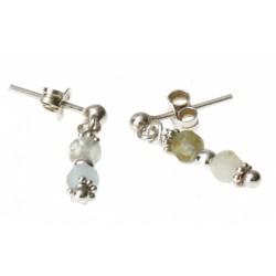 echt zilveren oorbellen met aquamarijn