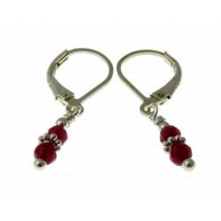 echt zilveren oorbellen van ruby jade