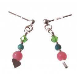 echt zilveren oorbellen kleurige edelsteen