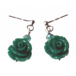 echt zilveren oorbellen roos