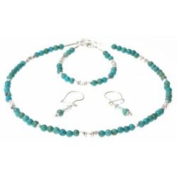 set turquoise en zilver